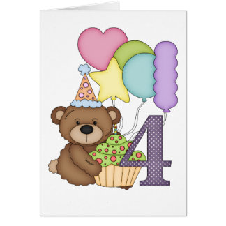 Oso de peluche con tarjeta de cumpleaños de los