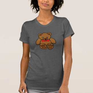 Oso de peluche con una camiseta para mujer del