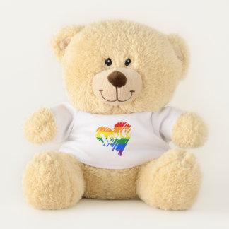 Oso De Peluche Corazón del amor del arco iris LGBT del orgullo