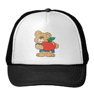 Oso de peluche de Apple de los días escolares Gorra