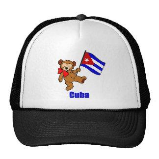 Oso de peluche de Cuba Gorras