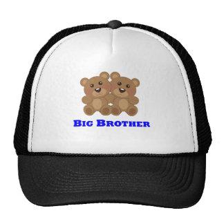 Oso de peluche de hermano mayor gorras