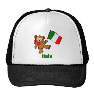 Oso de peluche de Italia Gorra
