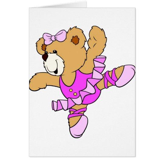 Oso de peluche de la bailarina tarjeta de felicitación