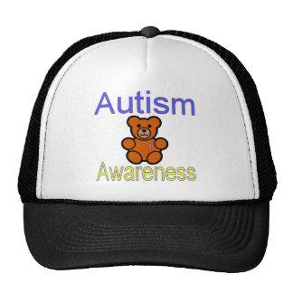 oso de peluche de la conciencia del autismo con la gorro
