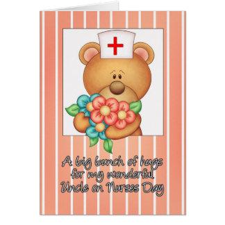Oso de peluche de la enfermera de tío Nurses Day Felicitacion