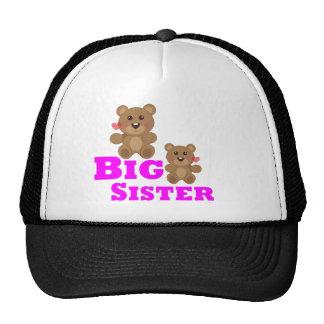 Oso de peluche de la hermana grande gorras de camionero