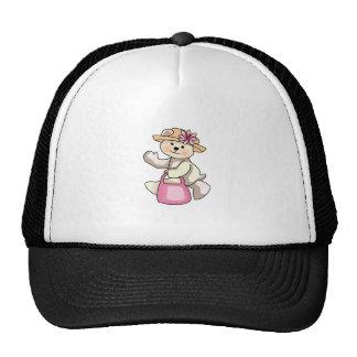 Oso de peluche de las compras gorras