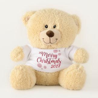 Oso de peluche de las Felices Navidad modificado