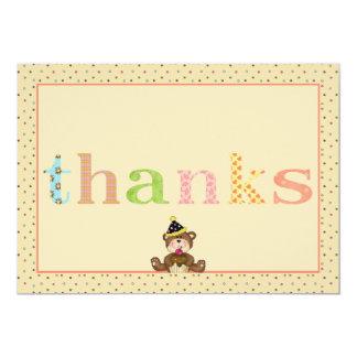 Oso de peluche de las gracias Notecard Invitación 12,7 X 17,8 Cm