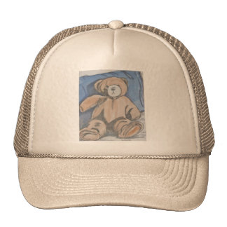 Oso de peluche de reclinación gorras de camionero