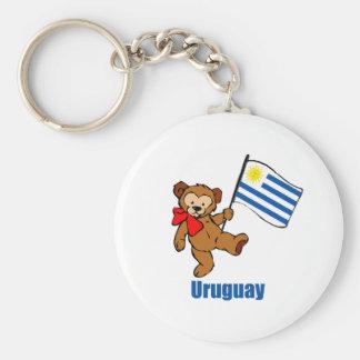 Oso de peluche de Uruguay Llavero Redondo Tipo Chapa