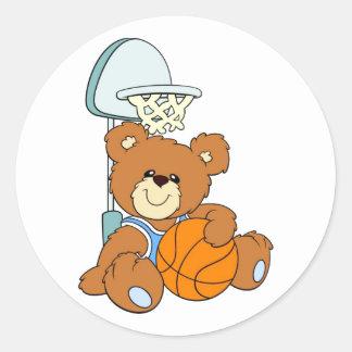 Oso de peluche del baloncesto pegatina