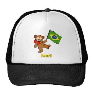 Oso de peluche del Brasil Gorras De Camionero