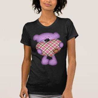 Oso de peluche del corazón del remiendo camisetas