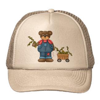 Oso de peluche del granjero gorra