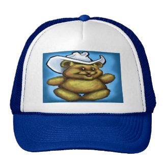 Oso de peluche del vaquero gorra