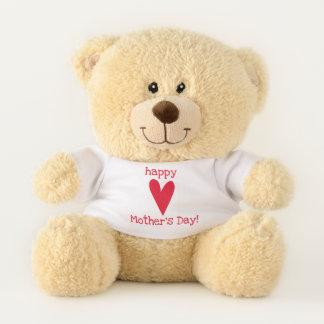 Oso De Peluche ¡El día de madre feliz! Corazón rojo