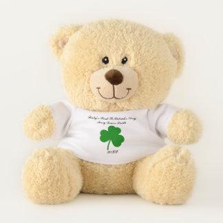 Oso De Peluche El día de primer St Patrick del bebé personalizado