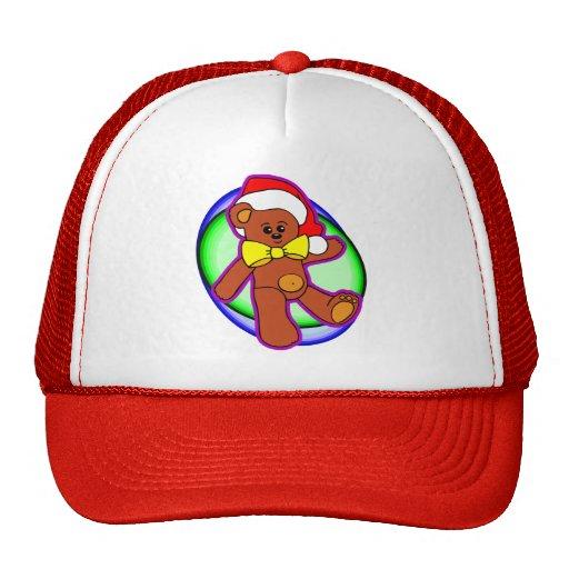 Oso de peluche en el gorra de Santa
