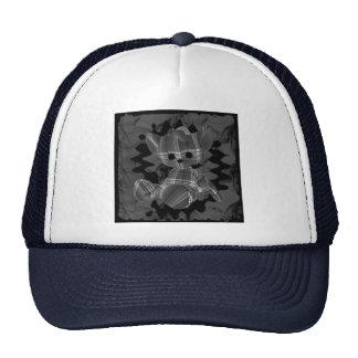 Oso de peluche espiral gris del humo gorros