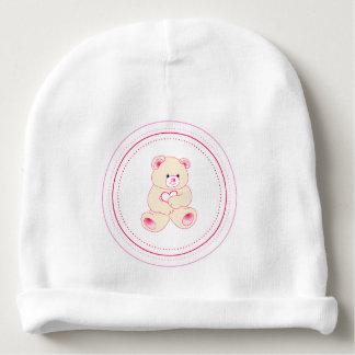 Oso de peluche femenino gorrito para bebe