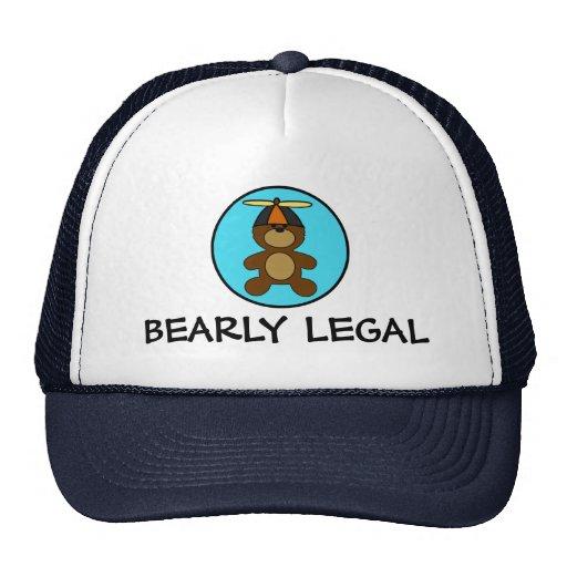 Oso de peluche legal de Bearly Gorras De Camionero