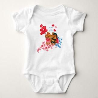 Oso de peluche lindo Onsie Body Para Bebé