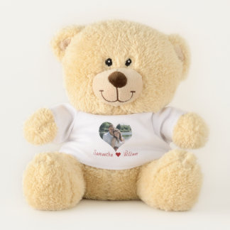 Oso De Peluche Marco del corazón del amor personalizado