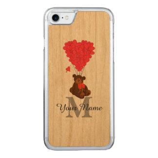 Oso de peluche romántico de la diversión funda para iPhone 7 de carved
