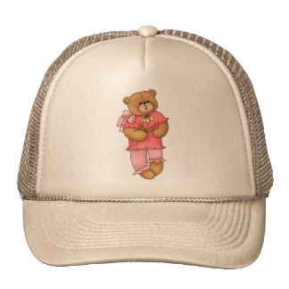 Oso de peluche rosado gorras de camionero