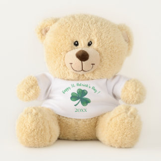 Oso De Peluche Trébol del verde del día de St Patrick