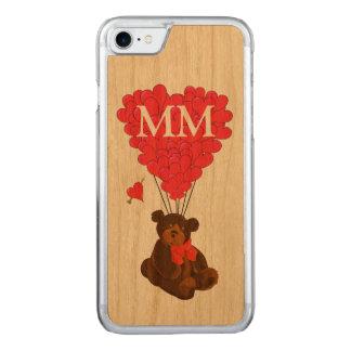 oso de peluche y corazón del amor funda para iPhone 7 de carved