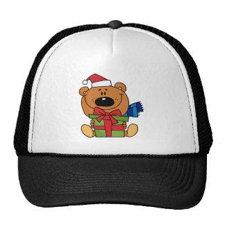 Oso de Santa con el regalo de Navidad Gorras De Camionero