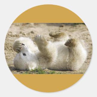 oso del bebé pegatina redonda