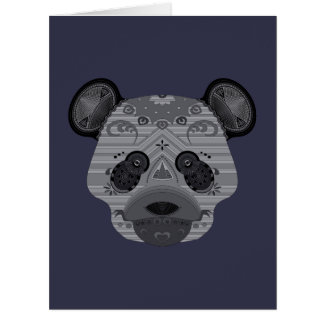oso del geo tarjeta de felicitación grande