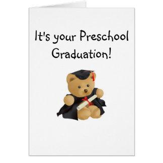Oso del Graduación-Peluche Tarjeta De Felicitación