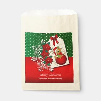 Oso del navidad del día de fiesta bolsa de papel