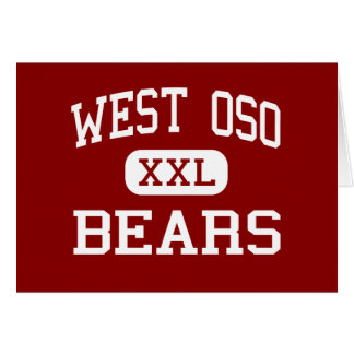 Oso del oeste - osos - centro - Corpus Christi Tej Tarjetón