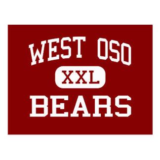 Oso del oeste - osos - centro - Corpus Christi Tej Tarjeta Postal