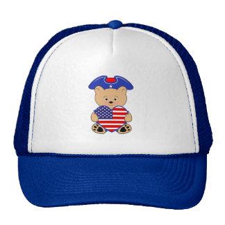 Oso del patriota gorro de camionero