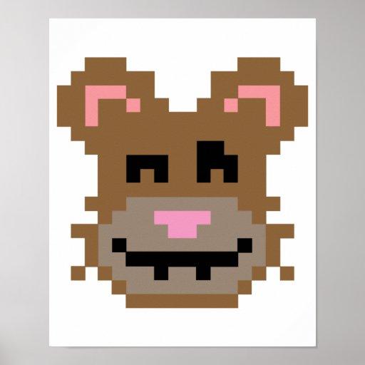 Oso del pixel poster