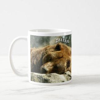 Oso el dormir taza de café
