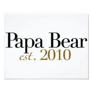 Oso Est 2010 de la papá Invitaciones Personalizada
