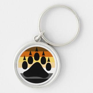 Oso gay de la pata de oso del orgullo del oso llaveros personalizados