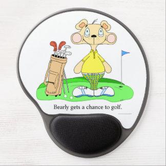 Oso Golfing divertido lindo Mousepad Alfombrilla Gel