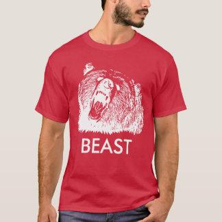 Oso grizzly de rugido de la bestia camiseta