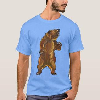 oso grizzly enojado camiseta