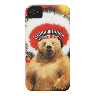 ¡Oso indio americano! Case-Mate iPhone 4 Funda