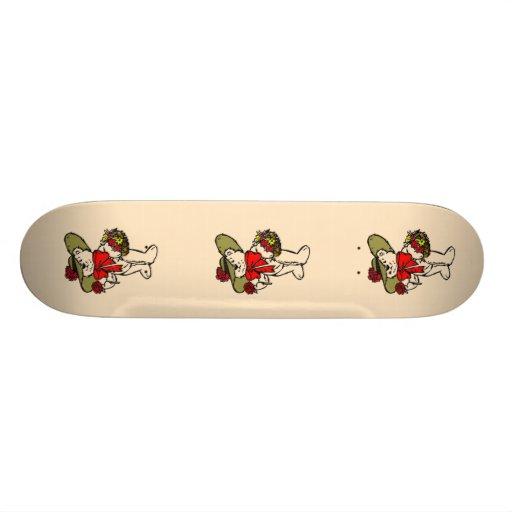 Oso lindo de la flor del gorra de imagen patin personalizado